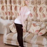 Hardly legal year old sandy-haired chick Satine Spark strips to her milky bra and undies set