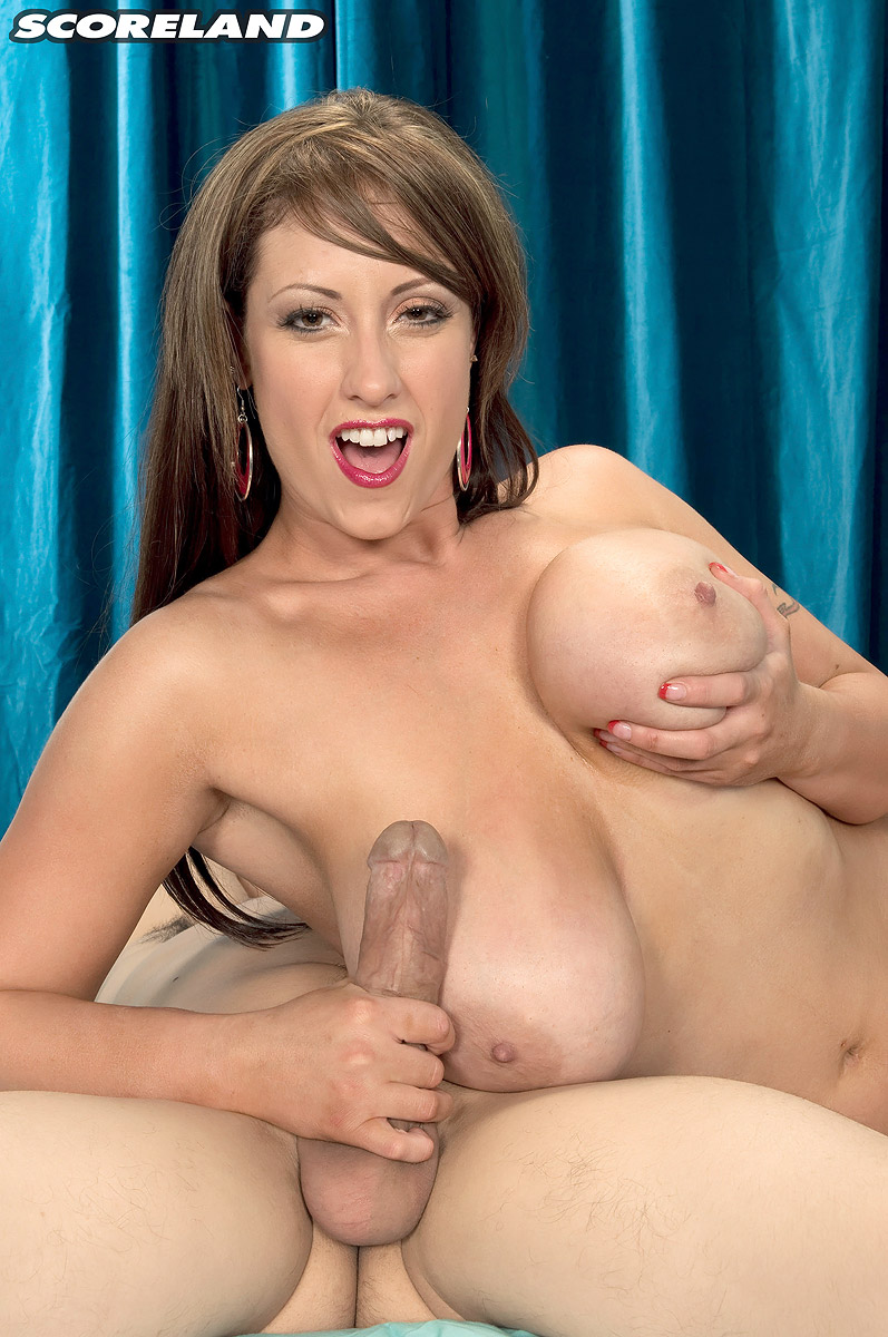 Huge-titted inked female Eva Notty gets nuck naked before wanking on a large penis