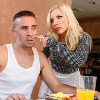 Platinum-blonde MILF XXX pornstar Ashley Fires does anal after givingblowing a hefty dick