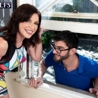 60 Plus MILF Cashmere gets drilled by a younger guy after seducing him via a window
