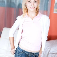 Legal ash-blonde spinner Maddy Rose having tiny nubile knockers exposed