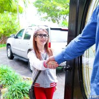 Scarcely legal nubile Sally Unload delivering giant dick hj and BLOW JOB before getting boned