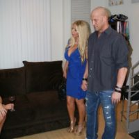 Monster-sized jugged golden-haired Kayla Kleevage and MILF X-rated star Karen Fisher crew upin a Threesome