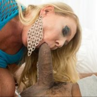 Humungous breasted sandy-haired doll Kayla Kleevage swaps blowjobs before bi-racial boinking