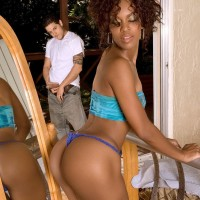 Ebony MILF Envy Kenya having her ass fellated and delivering blow-job before anal sex