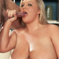 Sandy-haired BIG HOT WOMAN Anna Kay breast strangles her guy after oral and vaginal sex takes place