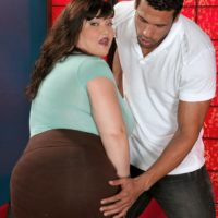 Black-haired big beautiful woman Kelly Shibari makes a man blessed with her humungous juggs and nipples