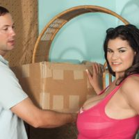 Black-haired Latina chubber Haydee rodriguez uncovering large tits from dress