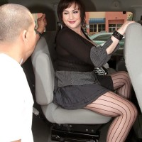 Dark-haired MILF Beverly Paige unsheathing uber-cute boobies for her individual trainer
