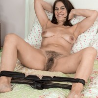Brown-haired MILF Kaysy loosing petite titties and wide open cootchie from inviting lingerie