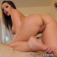Dark-haired MILF Melina Mason getting ass screwed after giving immense dick oral pleasure