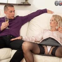 Provocative senior woman Beata gives a ball munching oral pleasure after seducing a junior boy