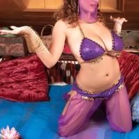 MILF XXX film starlet Valory Irene posing seductively non naked in harem chick uniform