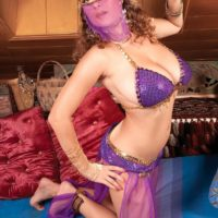 MILF XXX film starlet Valory Irene posing seductively non naked in harem chick uniform