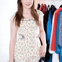 Little teenage Emma Ryder stands completely nude while getting switched in her bedroom