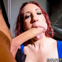 Redhead MILF pornstar Kelly Divine ass banged by monster-sized dick in black tights