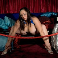 Solo BIG HOT LADY Jaden Suede unsheathes her giant titties and big bum over a bottle of wine