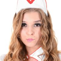 Solo model Alina N works herself loose from her horny nurse unfiorm