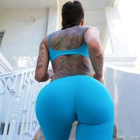 Inked female Bella Bellz takes selfies of her massive ass former to bumhole sex on a sofa